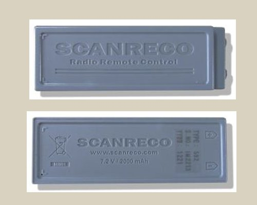 Nuova batteria ricaricabile Scanreco 592 - Scanreco rechargeable batteries type 592