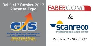Faber-Com e Scanreco esporranno al GIS di Piacenza - Faber-Com and Scanreco will exhibit at GIS in Piacenza