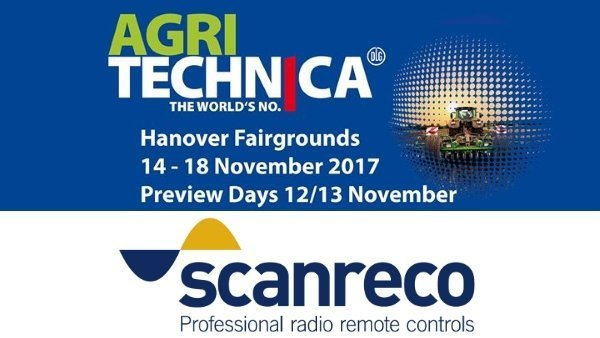 Scanreco esporrà presso Agritechnica 2017 - Scanreco will exhibit at Agritechnica 2017