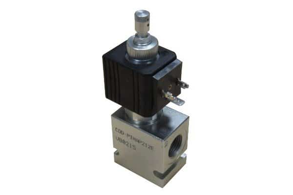 low regulator valves with electric control