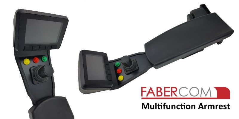 multifunction armrest for mobile machine control
