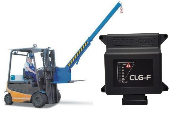 CLG-F load moment limiters for forklifts wih boom crane