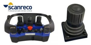 2-Axis joystick with push-button for Scanreco portable control units