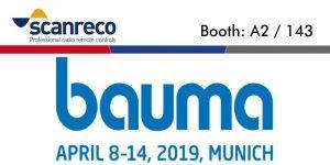 Scanreco will exhibit at BAUMA 2019