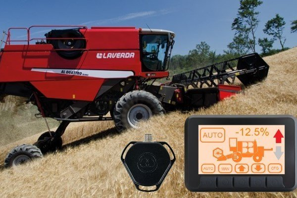 integrated control systems for combine harvester self levelling