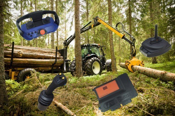 forestry crane control systems - components