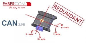 sensore d'angolo ridondante a due assi FIPR-C con uscita CAN bus