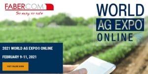 Faber-Com à la foire World AG Expo 2021